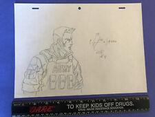 GI Joe Resolute Original Pencil Sketch Artwork Duke One Of One