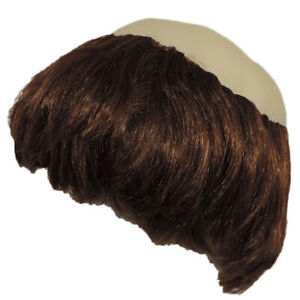 Religious Pious Brown & Bald Monk Costume Accessory Bowl Hair Cut Wig W/ Tonsure