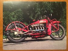 Tin Sign Vintage Indian Motorcycle 4