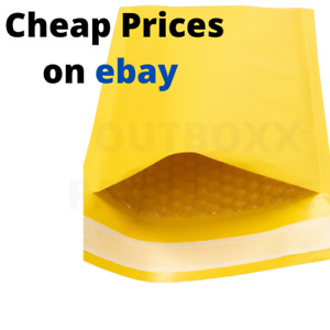 PADDED BUBBLE ENVELOPES BAGS POSTAL WRAP ALL SIZES VARIOUS QUANTITIES GOLD BAGS