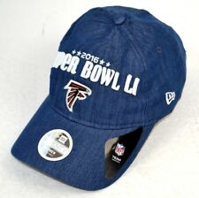 NFL Atlanta Falcons Women's Super Bowl LI 2016 New Era Hat Cap Denim Blue OSFA