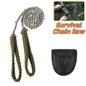 Handle Foldable Survival Gear Camping Tool Chain Saw Hand Saw Pocket Chainsaw