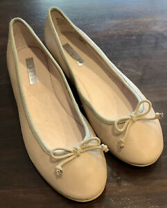 ZENSU *** NEW *** Ballet Flats - 9.5 - Leather - Beige - shoes