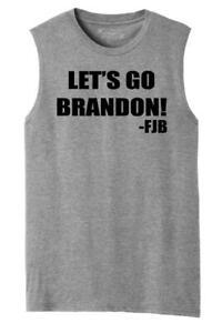 Mens Let's Go Brandon FJB Muscle Tank Republican Anti Biden Political