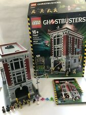 LEGO - GHOSTBUSTERS FIREHOUSE HEADQUARTERS- 75827 - RARE - 100% COMPLETE BOXED