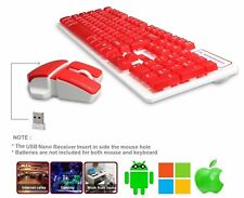 Keyboard and Mouse Combo Wireless , 2.4GHz Suspended Gaming, Home, Office Hk5200