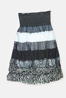 Womens Boule blue white layered look bandeau midi dress Size 12 - 14