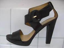 NEW UNWORN Ladies NINE WEST brown leather evening sandals UK 5.5 stilettos 8W