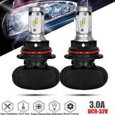 2Pcs 9004 HB1 LED Headlight Bulb 50W 8000LM Kit High Low Beam Upgrade 6000K 3.0A