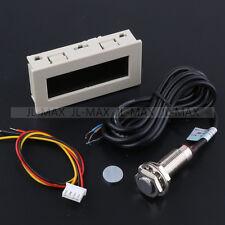 White Box RPM Speed Meter 4 Digital Red LED +Hall Proximity Switch Sensor NPN