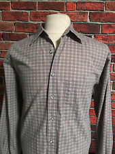 The Territory Ahead Mulit Color Check LS Multi Color Button Front Shirt Mens L