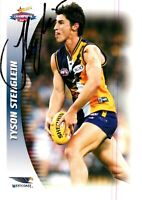 ✺Signed✺ 2006 WEST COAST EAGLES AFL Premiers Card TYSON STENGLEIN