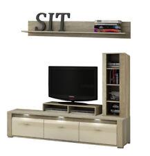 Living room furniture Tv stand unit shelf cabinet LED Lights high gloss front