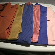 Lot of 6 Mens Dress Shirts Geoffrey, Louis Roth, Ken Cole, Solly, Mossimo 0469