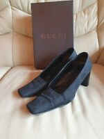 Ladies Gucci Shoes Black Monogrammed 38 UK 5  US 7