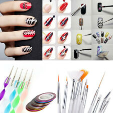 20pcs Nail Art Design Set Dotting Painting Drawing Polish Brush Pen Tools + Gift