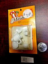 Doll House Miniature Accessory 6pc. White Porcelain Tea Set  *VINTAGE   A2