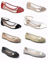 Women's Clear Transparent Buckle Strap Rhinestones Ballerina Ballet Flat Shoes