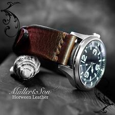 Müller&Son Genuine Horween Leather Brown 20 mm Watch Strap Custom Made in USA