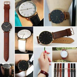1* Durable Stylish Leather Watch Wrist Band Straps Bracelet Belt For DW Watch