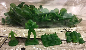 Risk Halo Wars Collectors Edition Green Army Movers 55 Replacement Pieces Lot