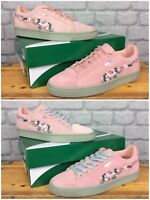 PUMA LADIES CLASSIC SUEDE PINK SUNFADE STITCH TRAINERS VARIOUS SIZES REDYE