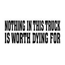Nothing in this truck vinyl decal sticker for car window GTA funny theft warning