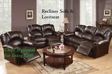 Sofa Couch Leather sofa Furniture 2 Pcs Living room set Reclining Sofa Loveseat