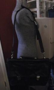 Vintage Coach Black Leather Briefcase No. G0R-5101~Laptop Bag/Carry On/Crossbody