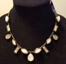 "Silpada ""Crystal Clear"" Quartz, Swarovski Crystals, & Brass Necklace KRN0016 NWT"