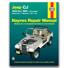 Haynes Repair Manual for 1959-1983 Jeep CJ5 - Shop Service Garage Book wr