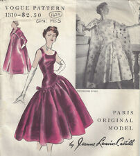 1955 Vintage VOGUE Sewing Pattern B34 DRESS & COAT (1429) JEANNE LANVIN-CASTILLO