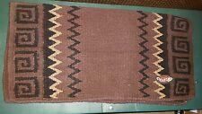 """Weaver Western Pad 32"""" × 32"""" Topper Dark brown/black Wool Western throw"""
