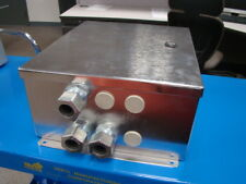 "Stainless Steel Electrical Enclosure, 14-1/2"" x 12-1/4"" x 6-1/2"""