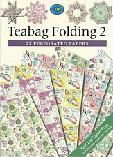 Teabag Folding Vol 2 Book - 22 Perforated Papers Instructions Acid Lignin NEW