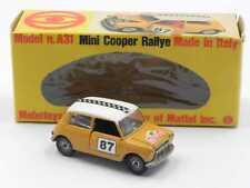 Mebetoys A31 Innocenti Mini Cooper Rallye in scatola gialla yellow box vintage