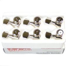 Schaller Original F-Series Rear Locking tuners, 6inline Nickel, 10570120