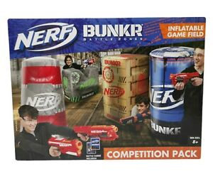 Nerf Bunkr Battlezones Inflatable  Competition Game Pack With Battle Cards *NEW