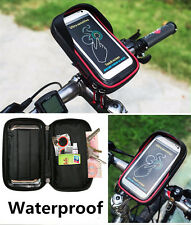 Bicycle Motorcycle 6'' Phone Mount Holder Bag Bar Clamp GPS PDA Bag Pack Pouch