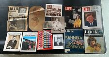 John F. Kennedy Memorabilia: Newspapers, Magazines, and Photos (RARE collection)