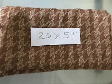 "New Sheer Houndstooth Fabric Remnant Brown 54"" x 25"""