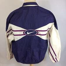 Vtg 90's Nike Purple People Eater Windbreaker running jumper Hip Hop JaCkEt L