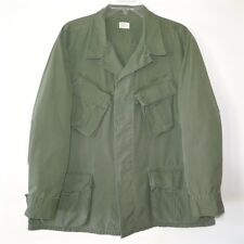 VINTAGE ORIGINAL USMC US MARINE RIP STOP CAMO JUNGLE JACKET 1969 LARGE SHORT