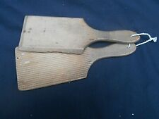 """Small Vintage Wooden * Butter Pats * Scottish Hands (8"""" Long)"""