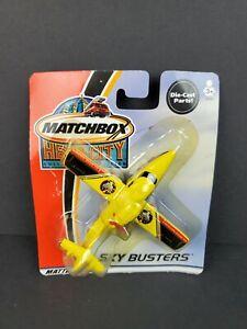 2002 Matchbox Hero City Sky Busters Amphibian Plane Rescue Yellow Diecast