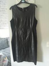 H&M Black leather look dress