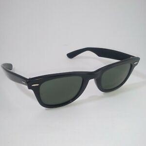 Vintage Bausch Lomb Ray-Ban Wayfarer B&L Black Sunglasses USA 5024
