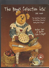 Boyds Collection Ltd Fall 2003 Catalog Mom Baking Pies Cover
