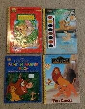 4 Disney's The Lion King Special Ed. Coloring & Activity Paint Books VTG NEW