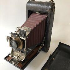 Antique Vintage Kodak No 3-A Folding Pocket Camera Model B-2 Red Bellows 1902